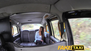 Driver fingered asshole of playful girl before fuck