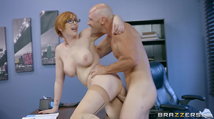 Redhead doesn't mind to have sexual relations with boss