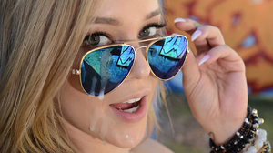 Cum on sunglasses after an intense fuck session