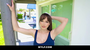 Cute brunette with big ass is fucked by a young lad