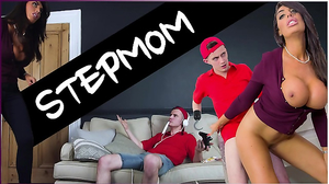 Bratty dude fucks the tanned pervy stepmother