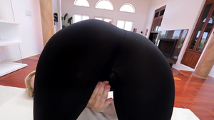 MILF with green eyes giving a point of view blowjob