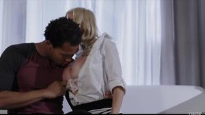 BBC for a blonde slut that has massive fake boobs