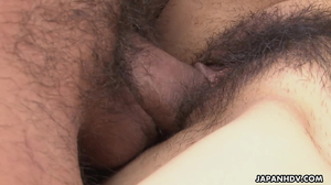 Hairy bush getting fucked hard in missionary pose