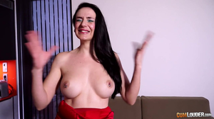 Cute busty slut orgasms multiple times and loves it